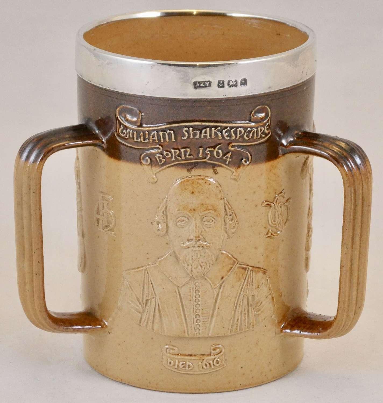 Royal Doulton Silver Rimmed Tyg Mug