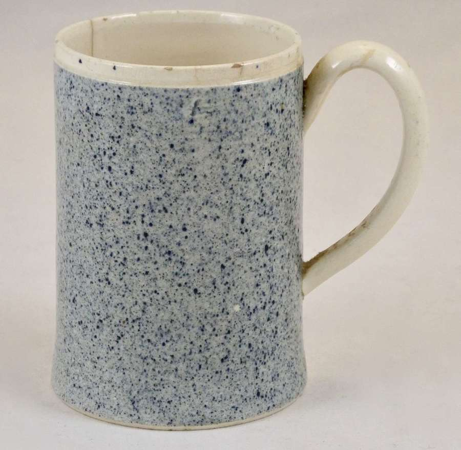 Powder Blue Slip Decorated Mug