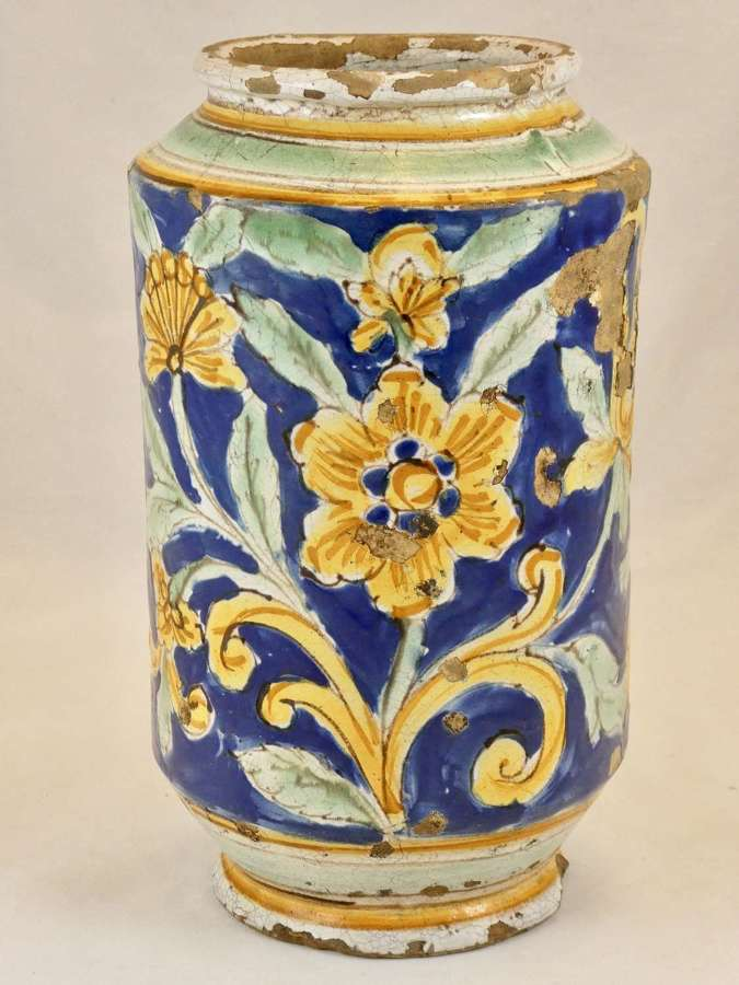 17th Century Majolica Jar