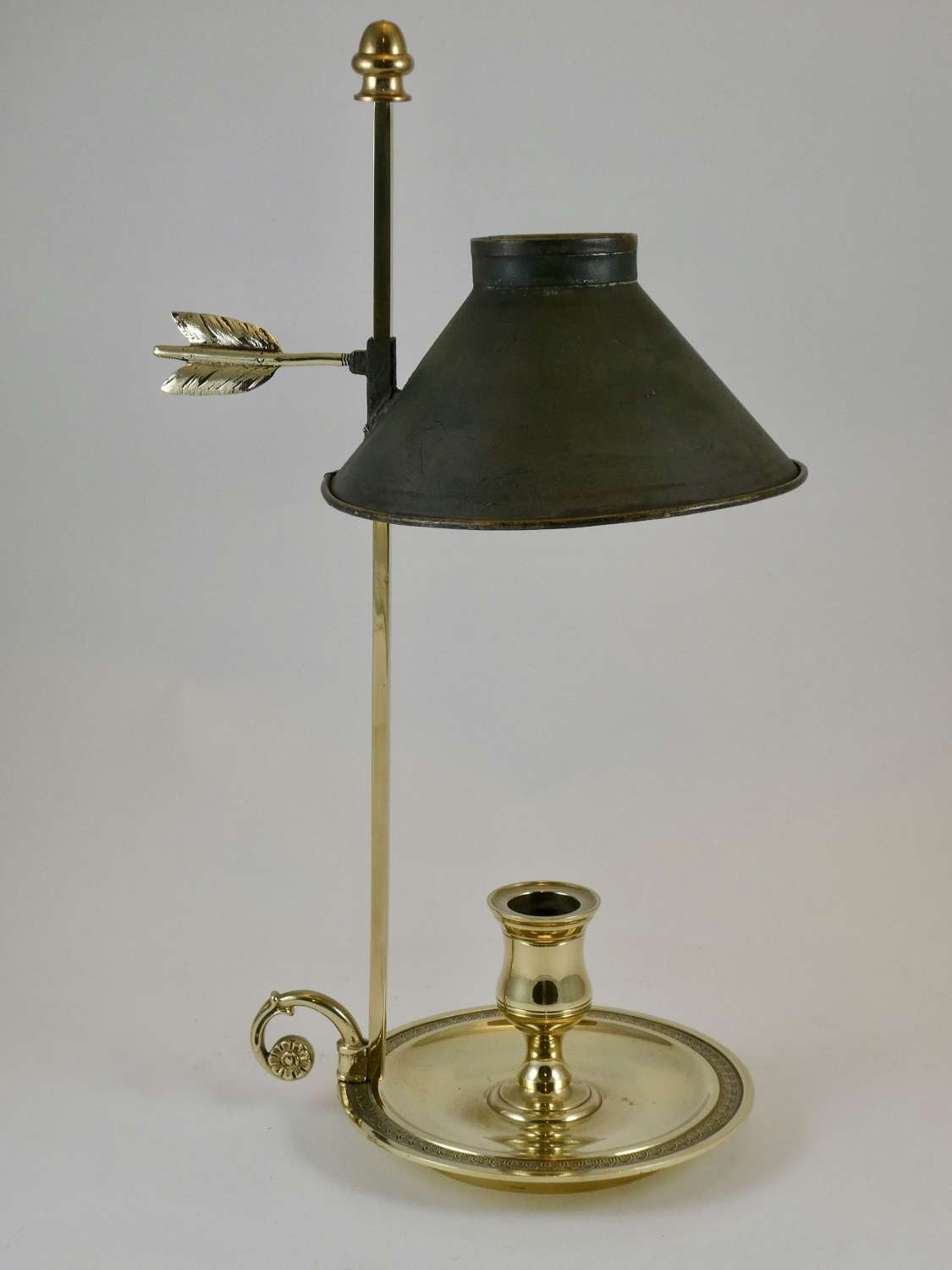 French Brass Student's Lamp