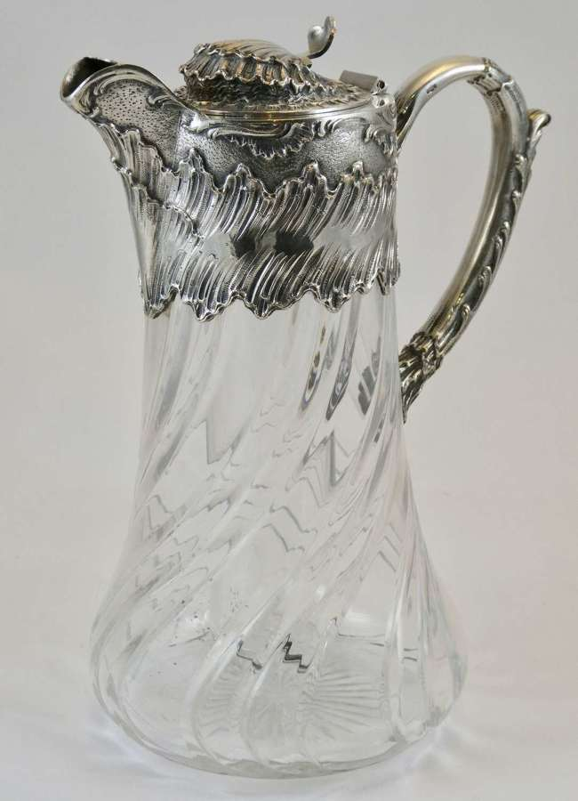 Silver Plate and Glass Lemonade Jug, late 19th century