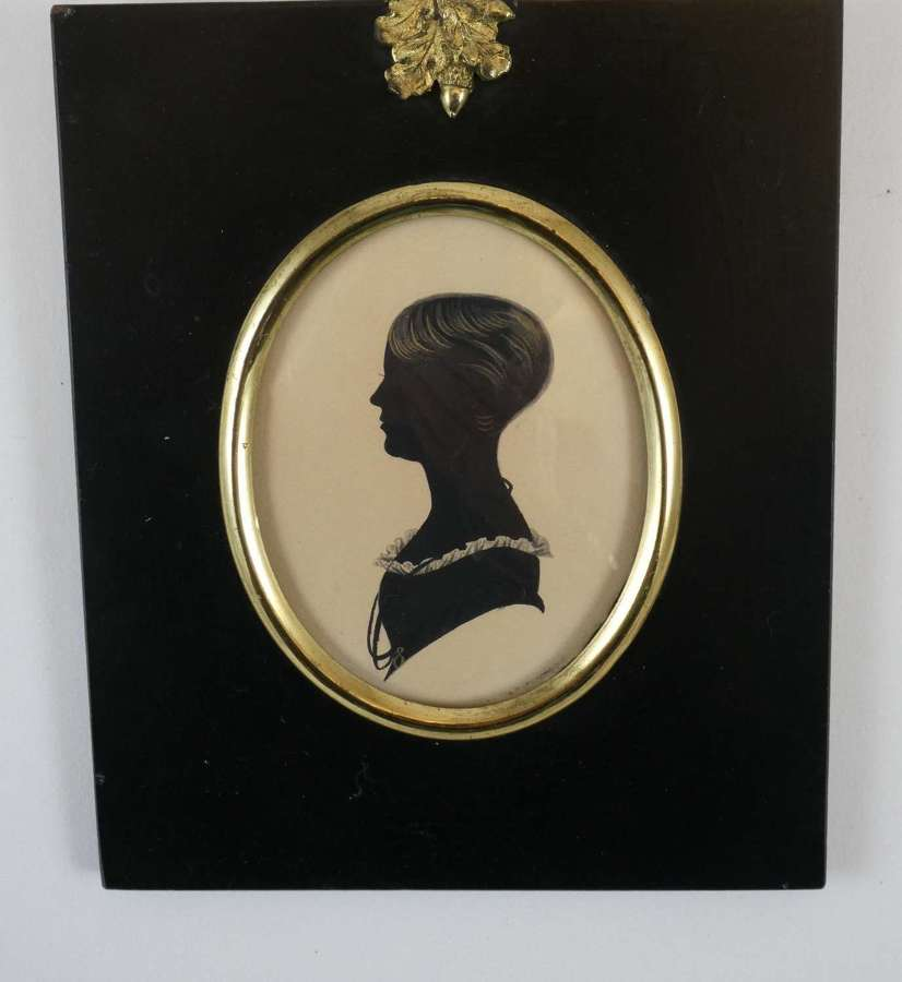 Regency Period Silhouette of a Young Woman