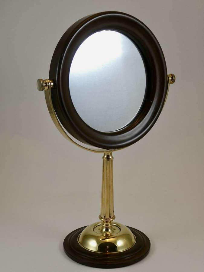 Early 20th Century Bakelite and Brass Shaving Mirror