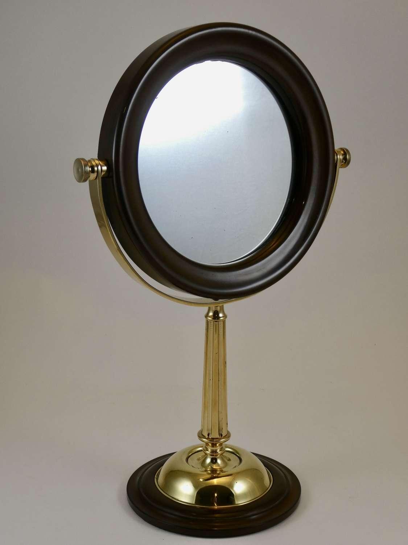 Early 20th Century Bakelite and Brass Shaving Mirror