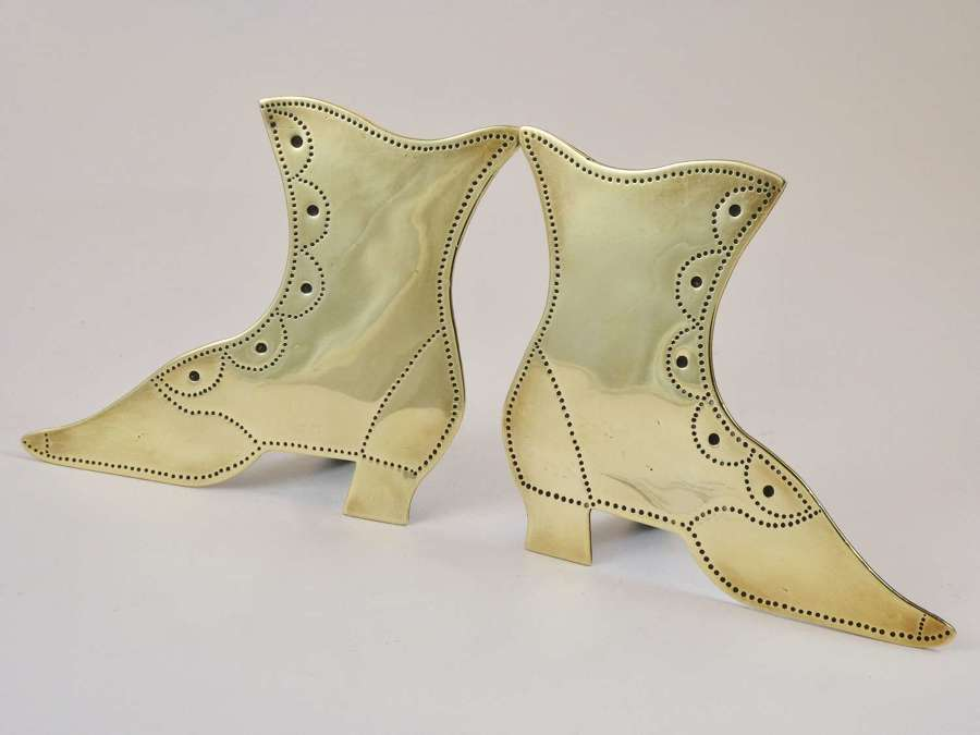 Victorian Brass Boot Ornaments