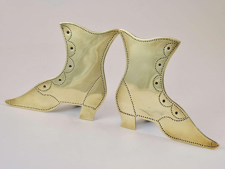 Victorian Brass Boot Ornaments