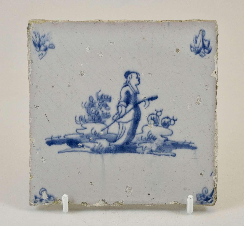 18th Century Dutch Delft Tile