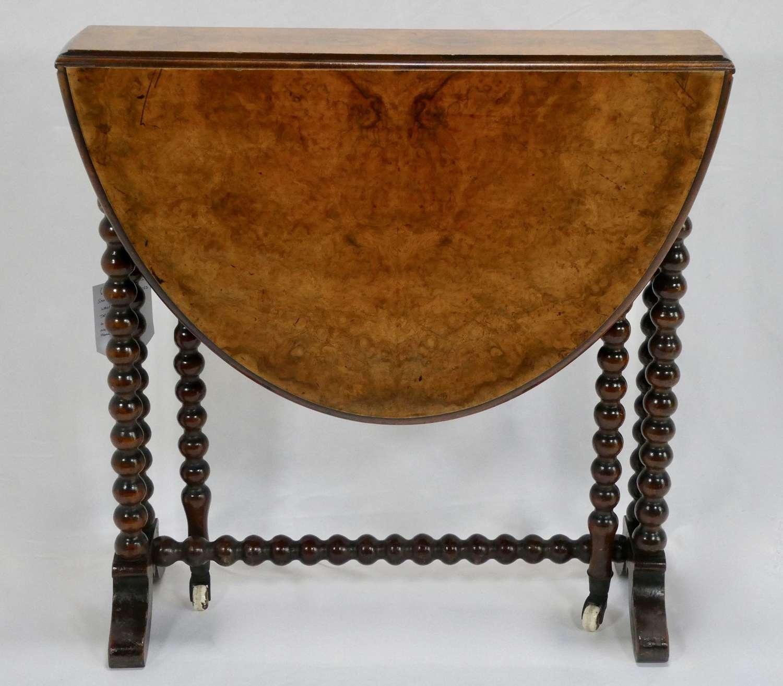 Victorian Figured Walnut Sutherland Table
