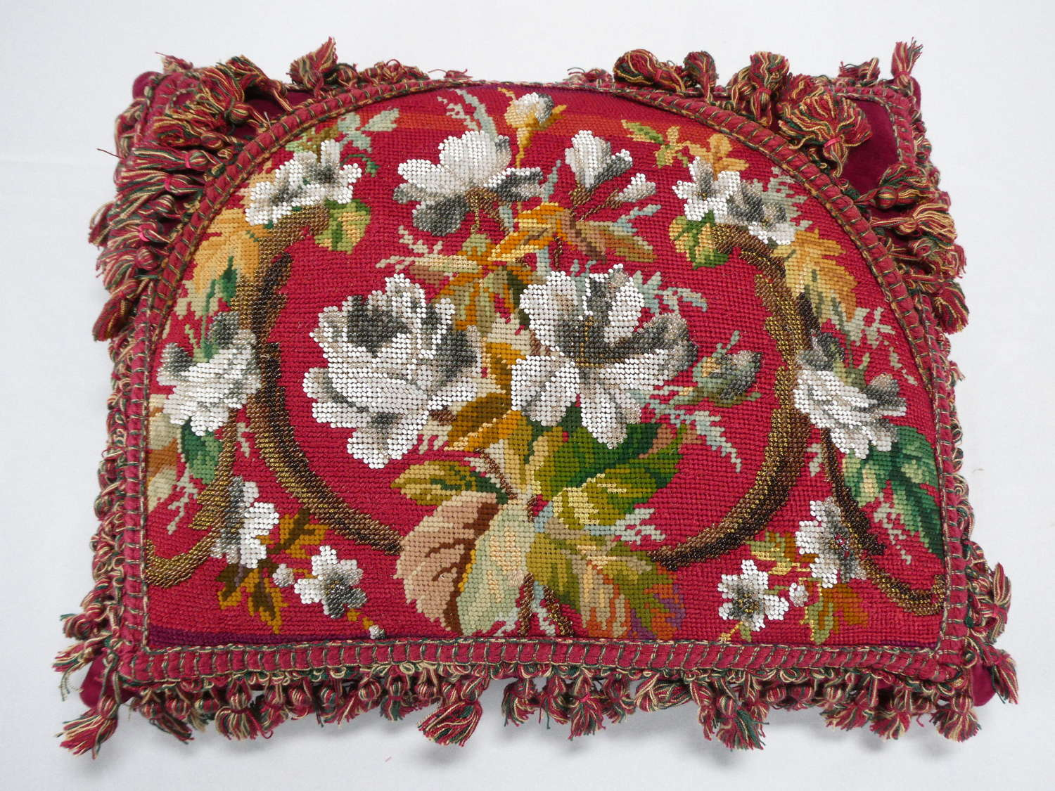 Victorian Beadwork Cushion