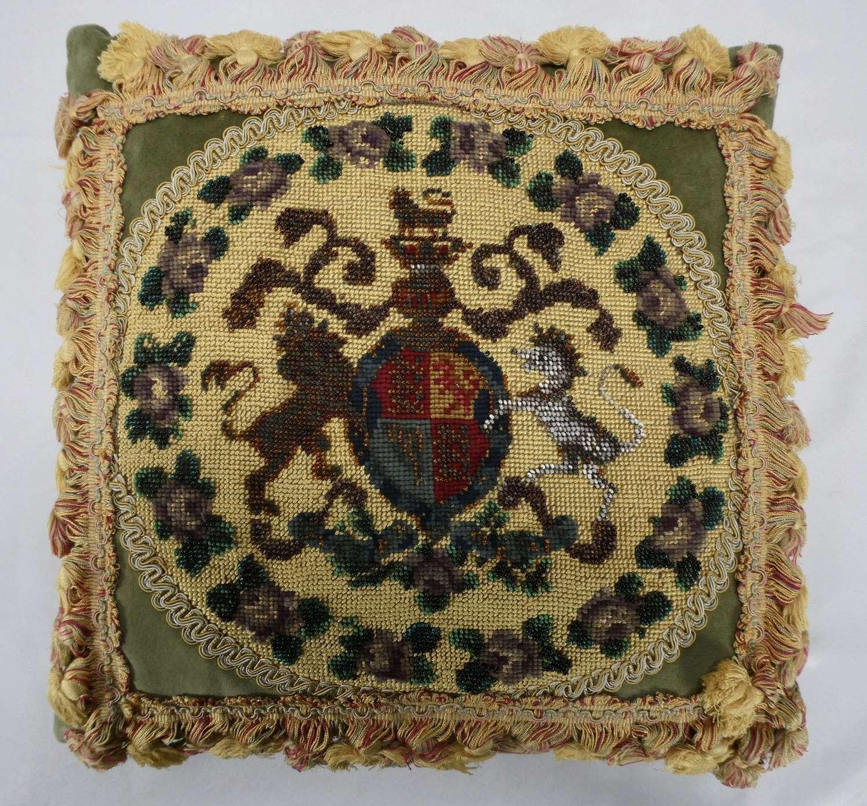 Victorian Beadwork Cushion