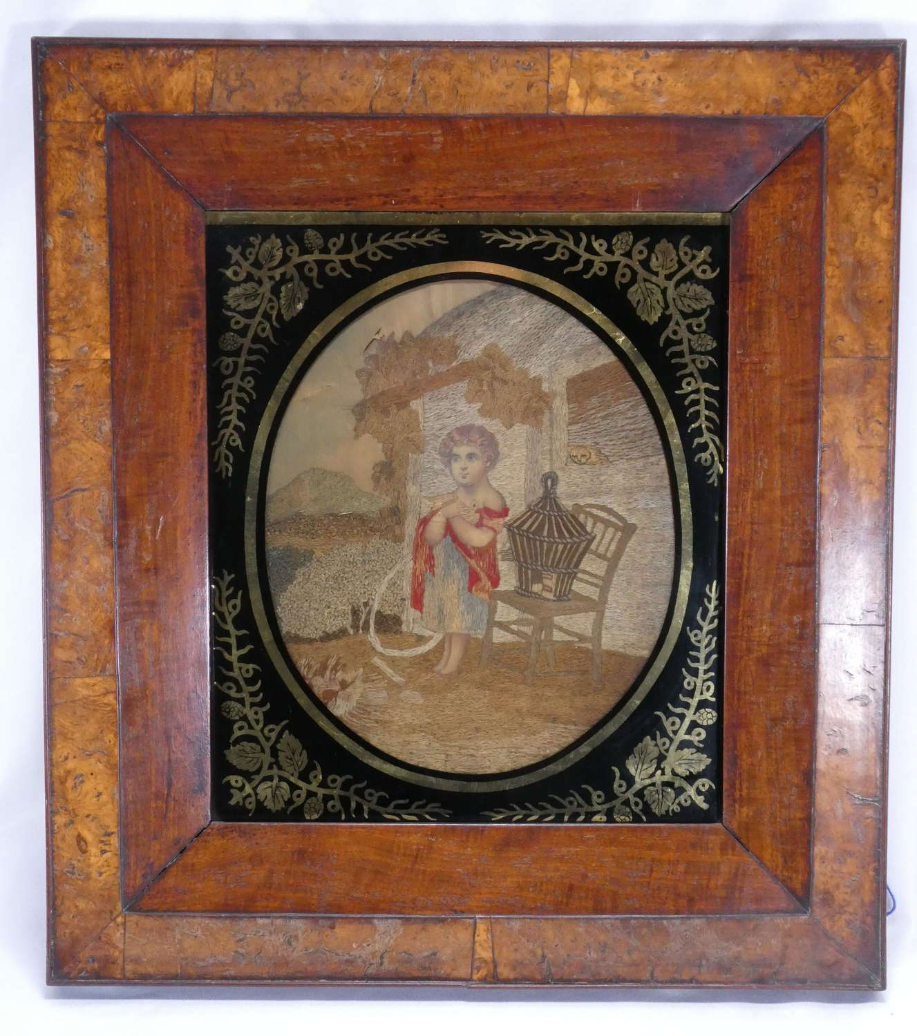 Early 19th Century Wool and Silkwork Picture
