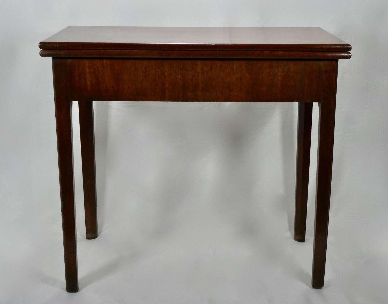 Georgian Mahogany Fold-over Table, circa 1780