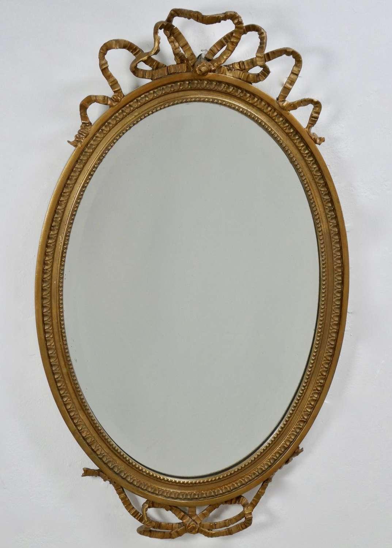Edwardian Bow Top Mirror