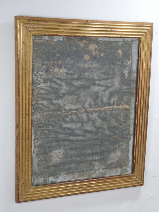 19th Century Mirror in Reeded Frame