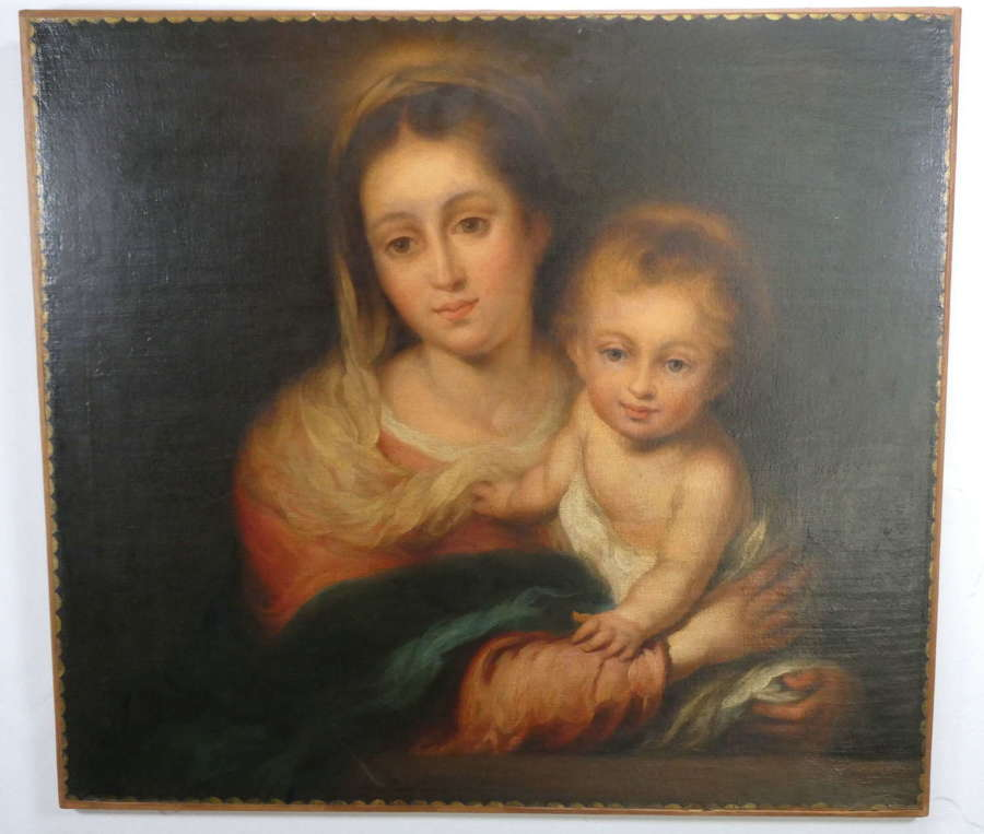Madonna and Child Oil on Canvas