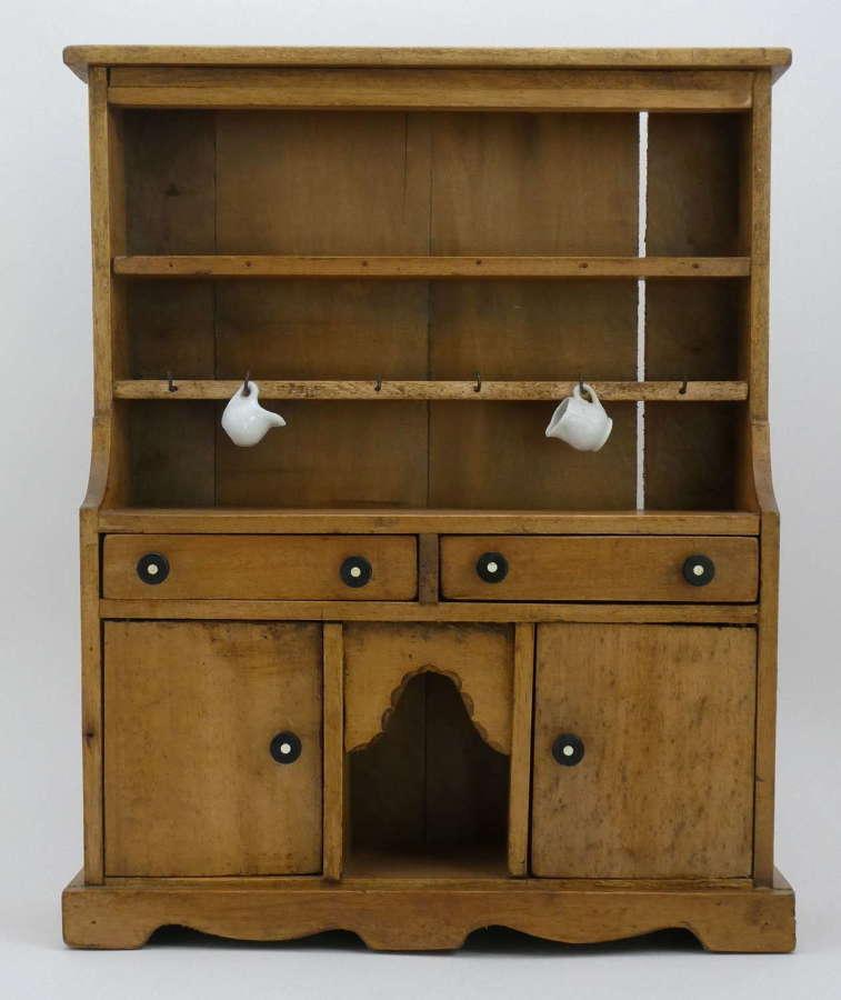Early 20th Century Miniature Pine Dresser