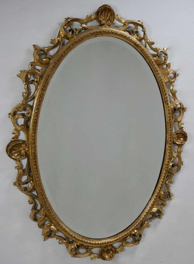 Carved Wood Florentine Style Mirror Circa 1900