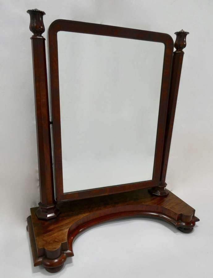 Large Victorian Mahogany Dressing Mirror