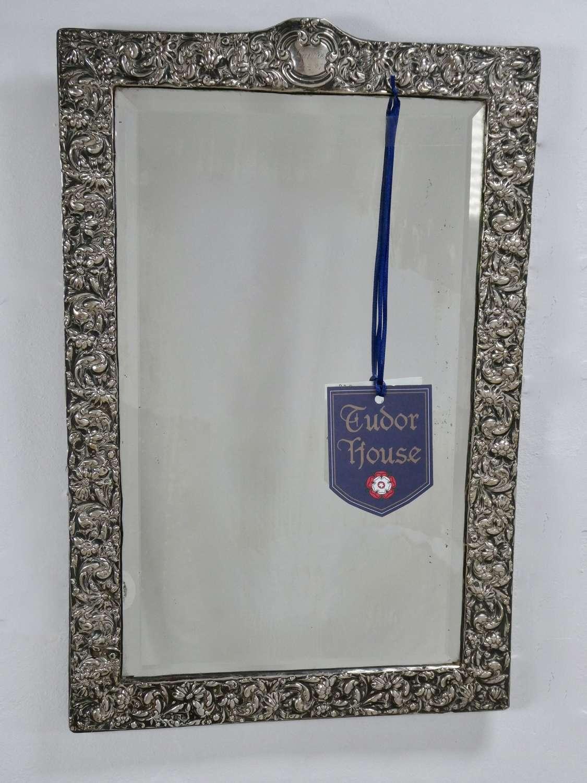 Silver Wall Mirror, circa 1905