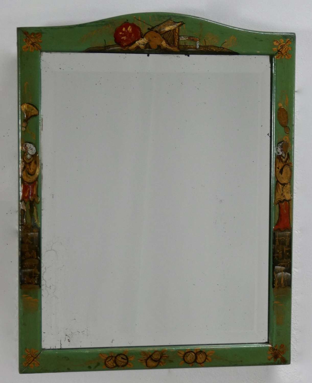 Green Chinoiserie Dressing Table Mirror