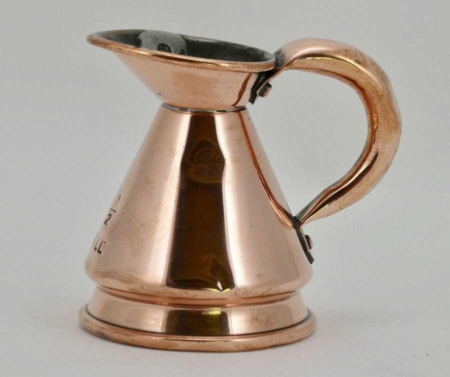 Victorian Half Gill Copper Measure