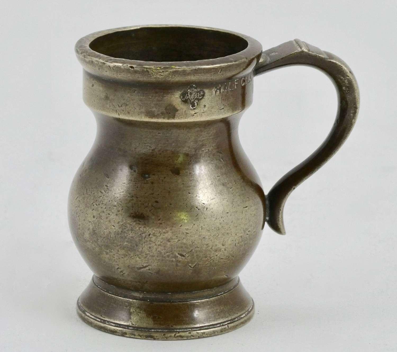 19th Century Bronze Half Gill Measure