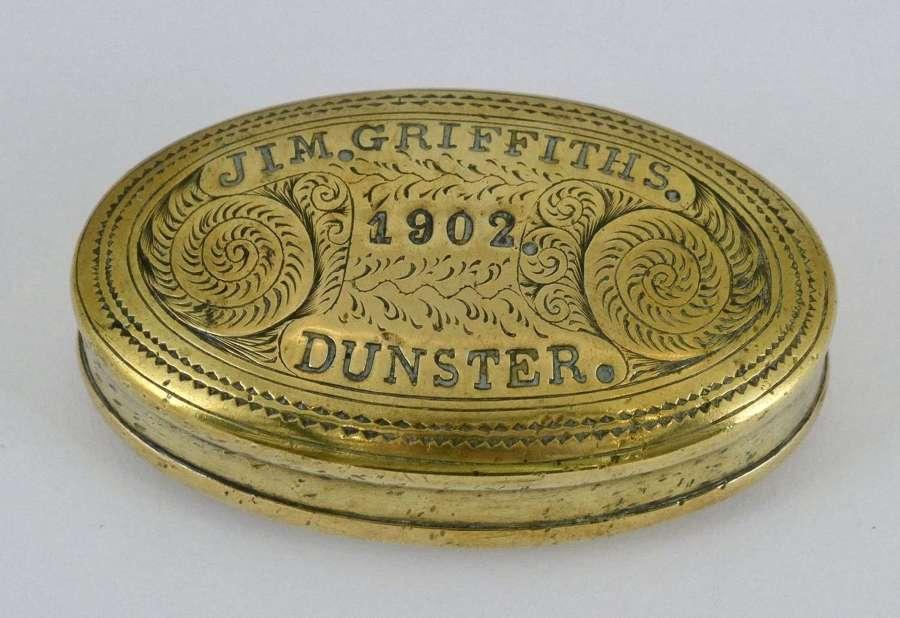Miner's Tobacco Box by Sam Thomas, 1902