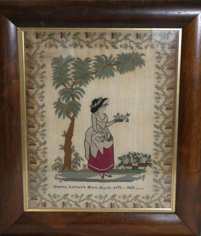 Needlework by Emma Lomas, 1820