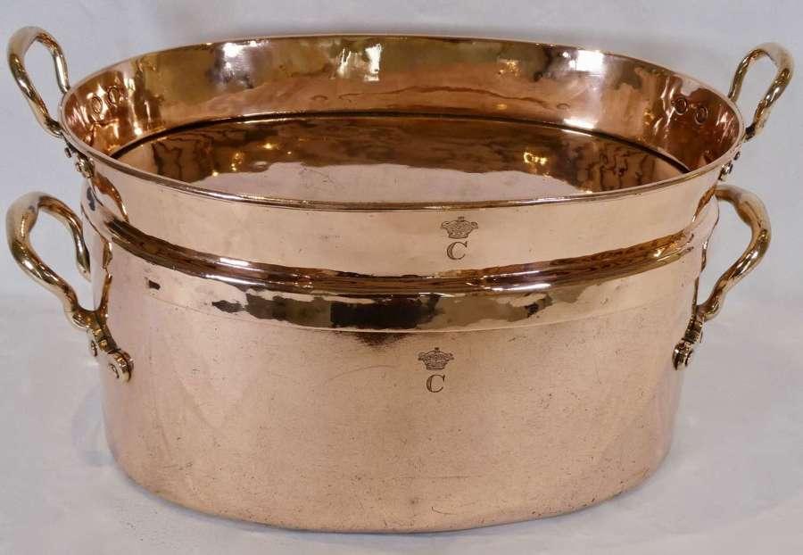Large Copper Braising Pan, 19th Century