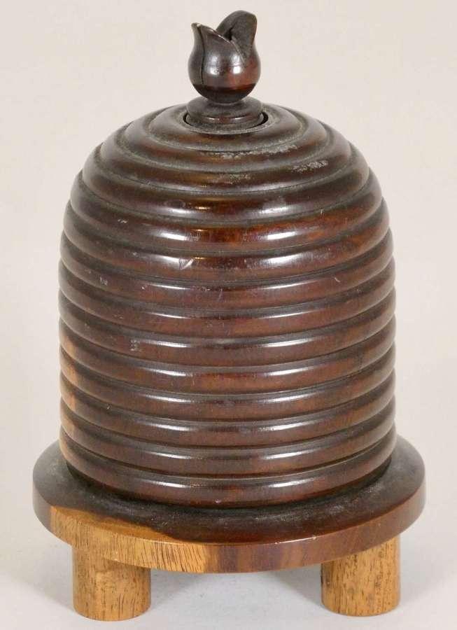 Victorian Lignum Vitae String Box