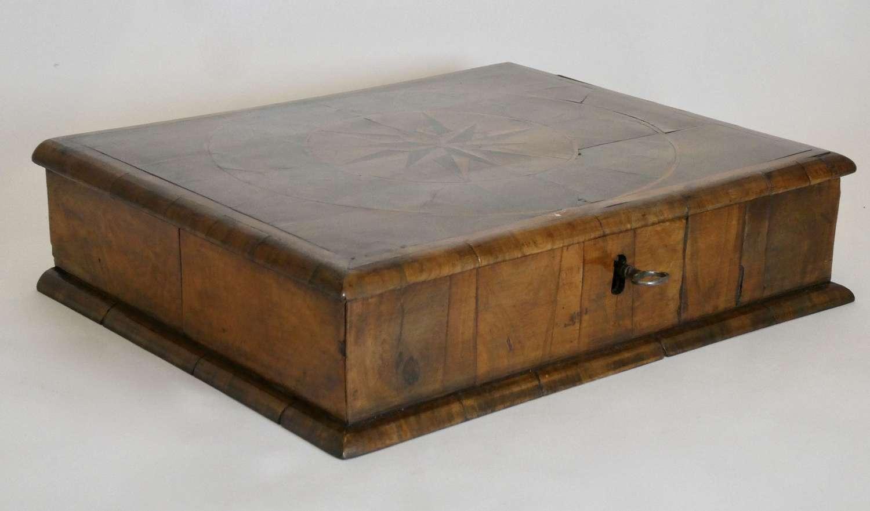 William & Mary Walnut Veneered Lace Box