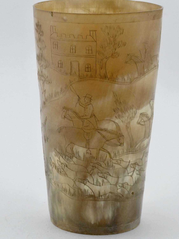 19th Century Horn Beaker