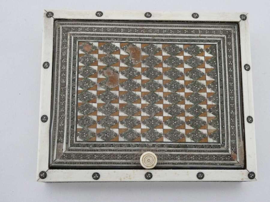 Micro Mosaic and Sandalwood Box