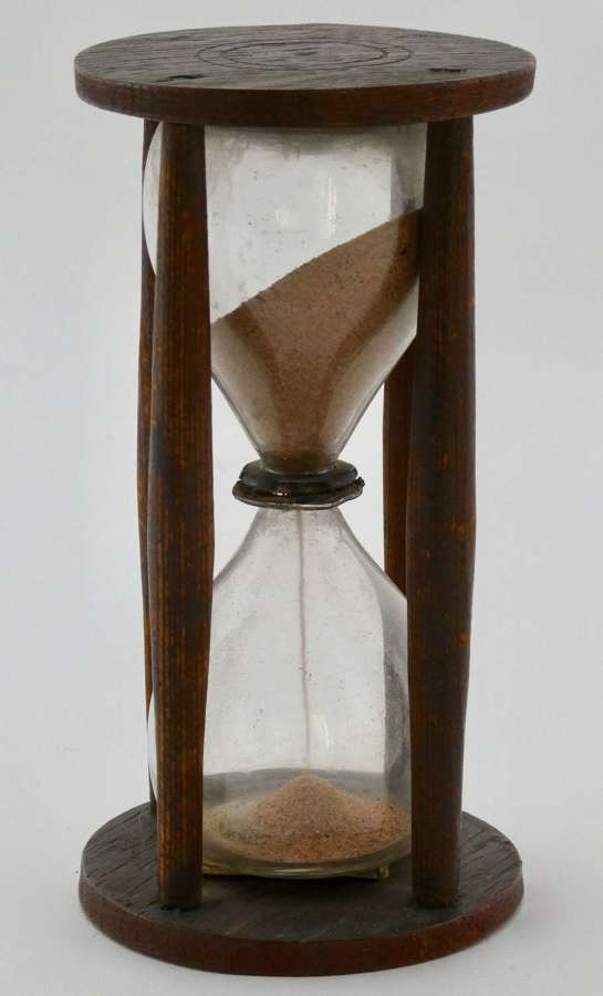17th Century Oak and Pine Framed Sandglass