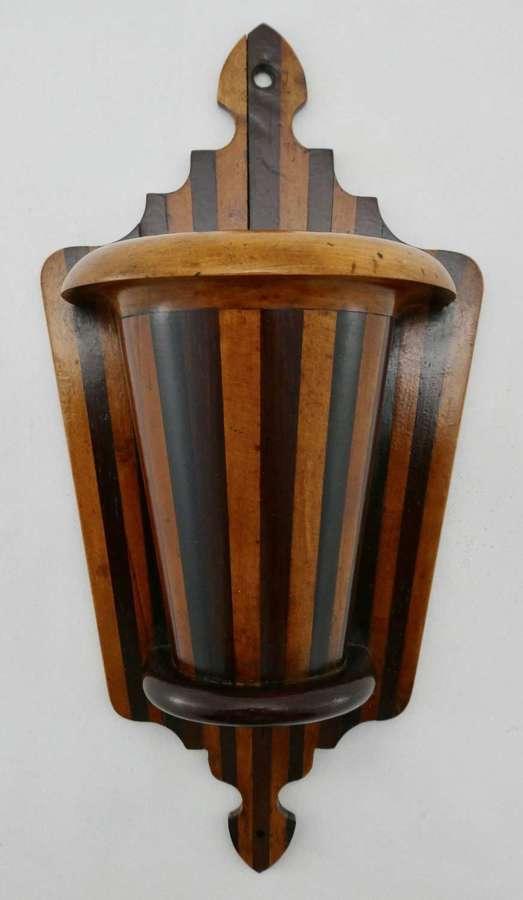 19th Century Mixed Timber Mural Spillholder