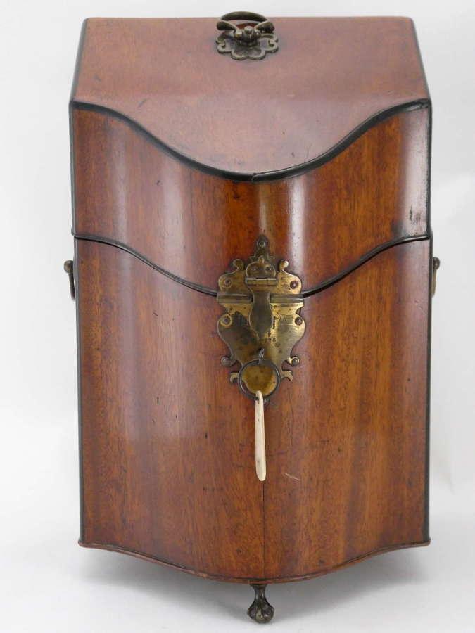 Georgian Mahogany Cutlery Box Adapted for Decanters