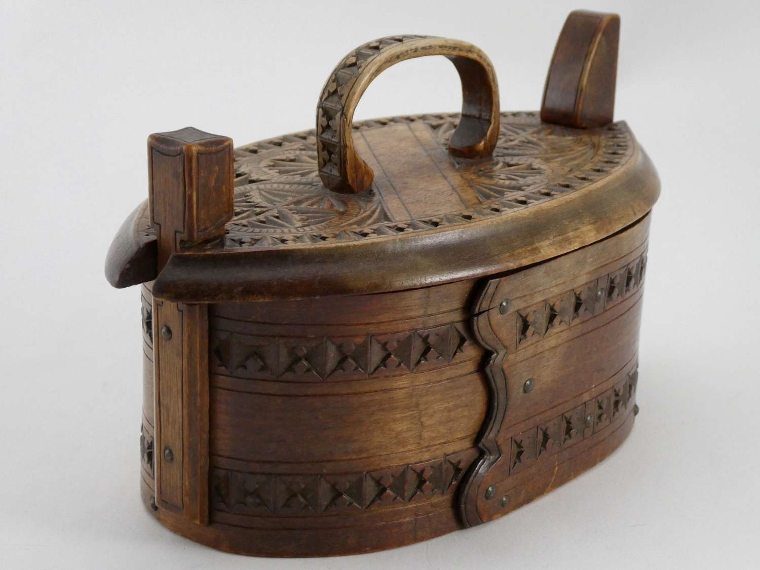 Early 19th Century Swedish Bentwood Bride's Gift Box