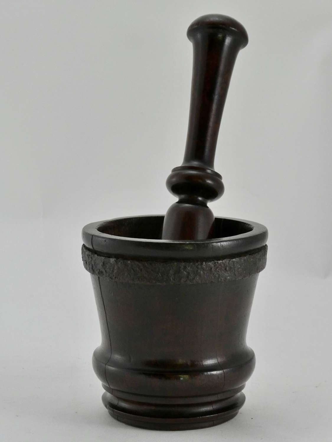 Early 18th Century Laburnum Apothecary's Mortar and Pestle